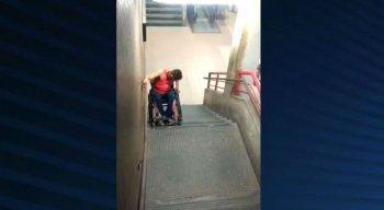 Cadeirante enfrenta dificuldade para se locomover