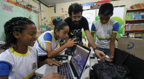 Rede pública: Alunos produzem filmes com materiais recicláveis
