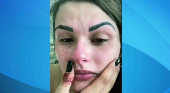 Após prisão, blogueira que acusou ex-marido de agressão é solta