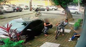 O assalto aconteceu na Rua do Futuro