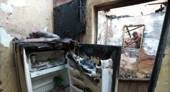 Explosão de botijão de gás deixa um ferido na Zona Norte