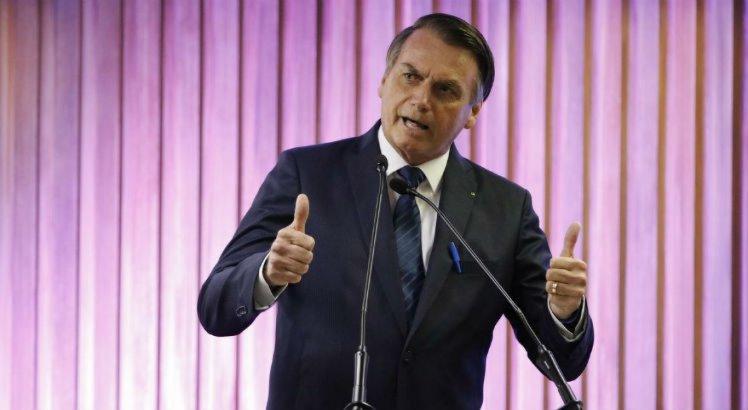 O Presidente da República, Jair Bolsonaro durante Cerimônia de Entrega da Medalha do Mérito Industrial do Estado do Rio de Janeiro