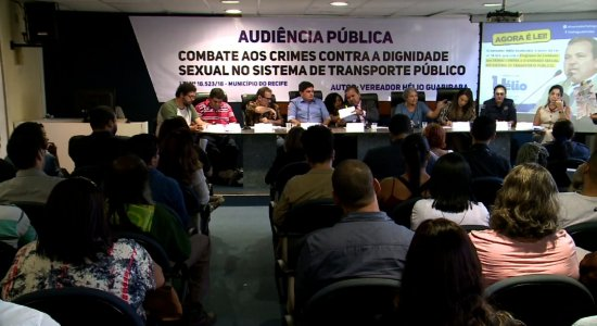 Audiência discute assédio sexual no transporte público no Recife