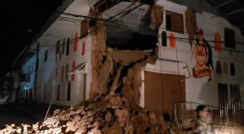 Um terremoto de magnitude 8,1 graus na escala Richter afetou o distrito de Lagunas, província de Alto Amazonas, no Noroeste do Peru