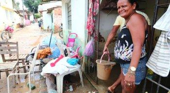 A Codecipe informou que 100 famílias estão desalojadas em Barreiros