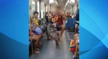 É preciso seguir determinadas regras durante o transporte de bicicletas no metrô