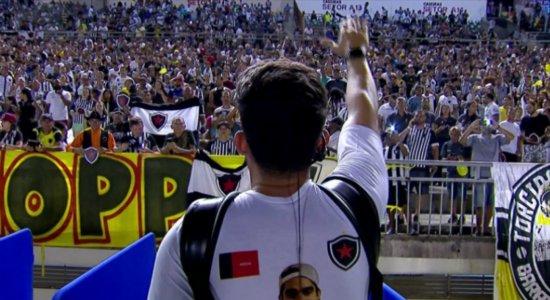 Torcida do Botafogo da Paraíba homenageia Gabriel Diniz na final