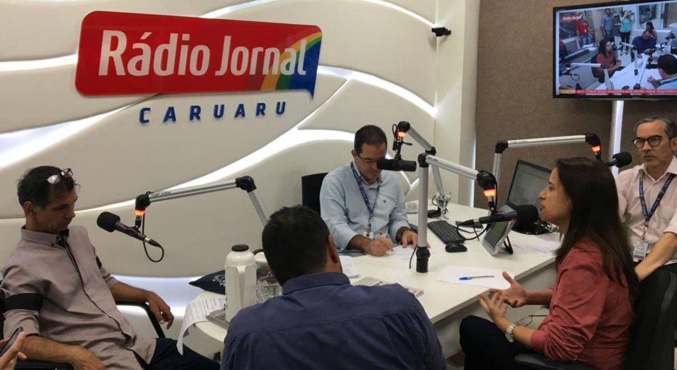 Prefeita Raquel Lyra participou do programa com Dilson Oliveira, Iran Carvalho e Paulo Magrinny
