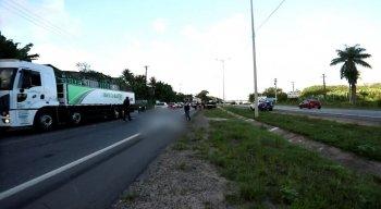 O acidente aconteceu no km 52, na altura do bairro de Arthur Lundgren II