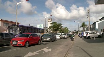 Obra altera o trânsito em Olinda
