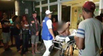 O vendedor foi socorrido para o Hospital da Restauração