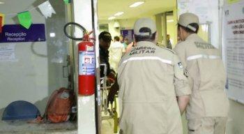 O garçom foi socorrido para o Hospital da Restauração