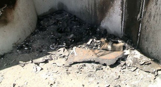 Vídeo: Incêndio atinge estacionamento de agência bancária em Piedade