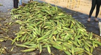 Mão do milho está sendo vendido a R$ 25 na Ceaca
