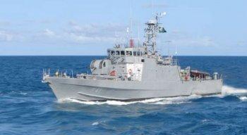Navio-patrulha Guaíba utilizado para fazer o resgate.
