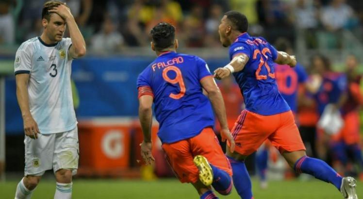 Ouça os gols da vitória da Colômbia sobre a Argentina