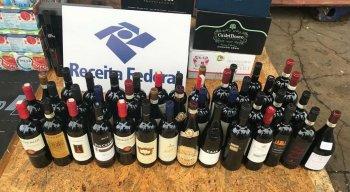 Os vinhos foram apreendidos no Porto de Suape