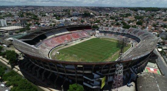 Estádio do Arruda passou por vistoria para saber as condições do gramado para o clássico.