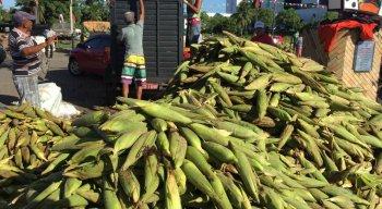 A mão do milho com 50 espigas está variando entre R$ 20 e R$ 30.