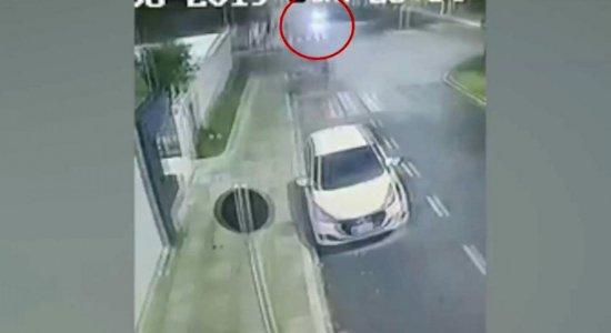 Vídeos mostram acidente que terminou com motoqueiro morto em Garanhuns
