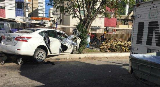 O acidente aconteceu na Avenida Presidente Kenedy