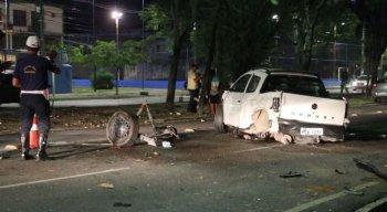 O acidente aconteceu na Avenida Caxangá