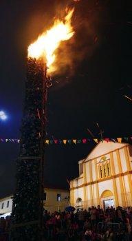 A fogueira será atração da festa