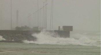 Ventos podem chegar até 62 km por hora no litoral do Recife