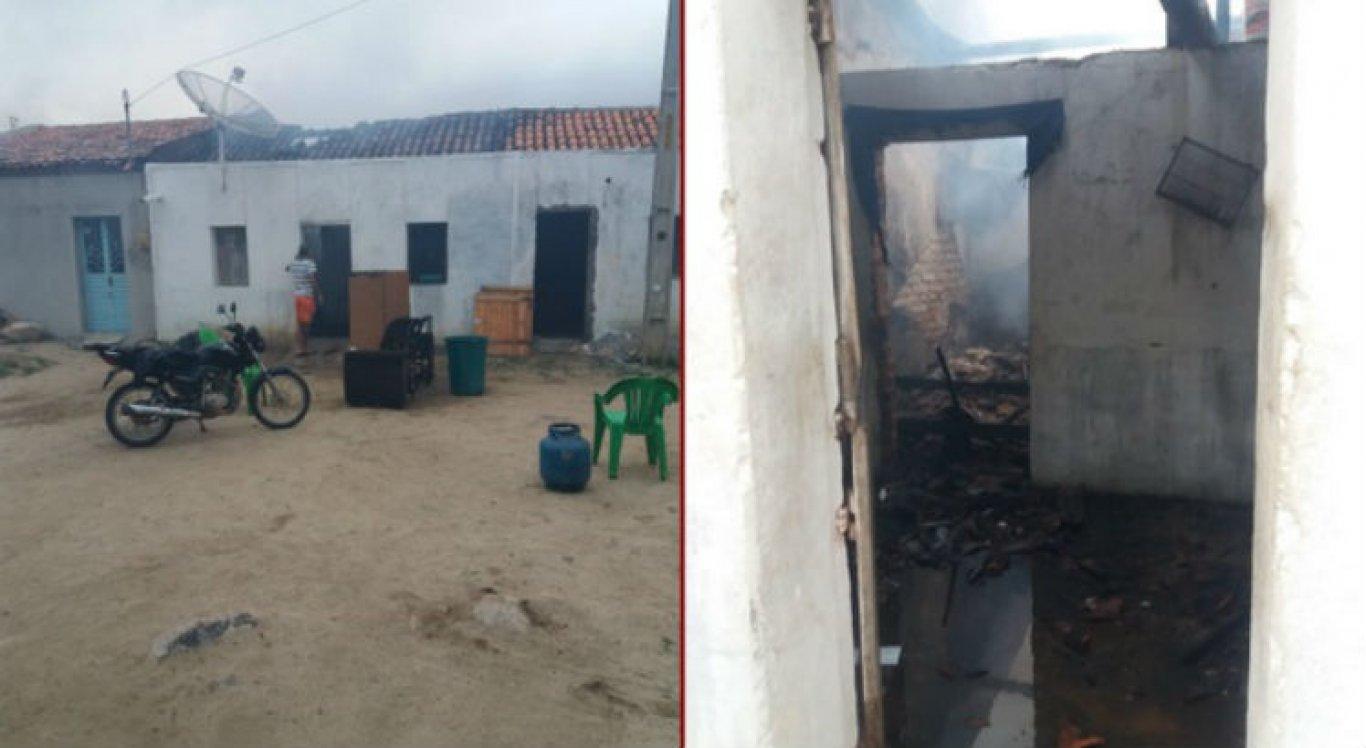 Incêndio destruiu móveis e objetos da casa da idosa em Brejo da Madre de Deus