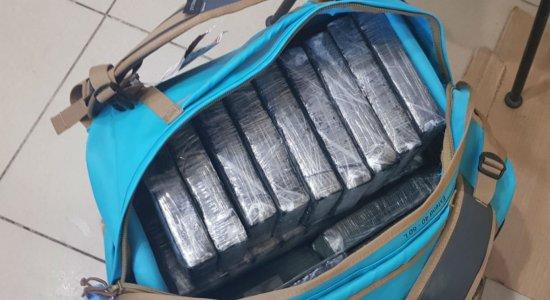 Polícia Federal apreende 35 kg de cocaína no Aeroporto do Recife