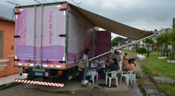 Caminhão de mamografia