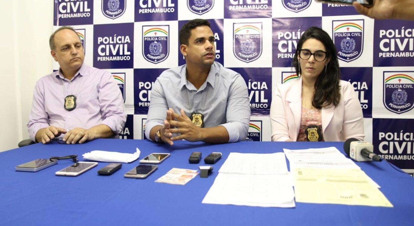Coletiva de imprensa sobre as investigações da tentativa de fraude no concurso da Guarda Civil Municipal de Petrolina
