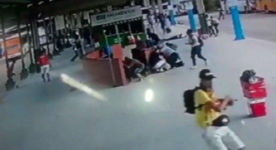 Vídeo mostra farmacêutico sendo baleado no TI Pelópidas Silveira