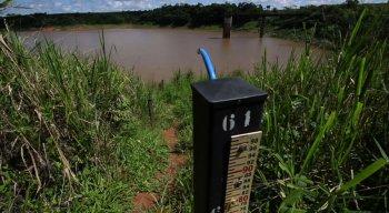 A barragem está com apenas 29% de sua capacidade de armazenamento de água