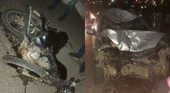 Veículos envolvidos na colisão na PE-88 ficaram totalmente destruídos