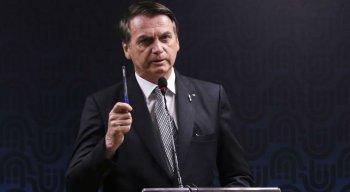 Presidente Jair Bolsonaro participou de culto na Câmara dos Deputados