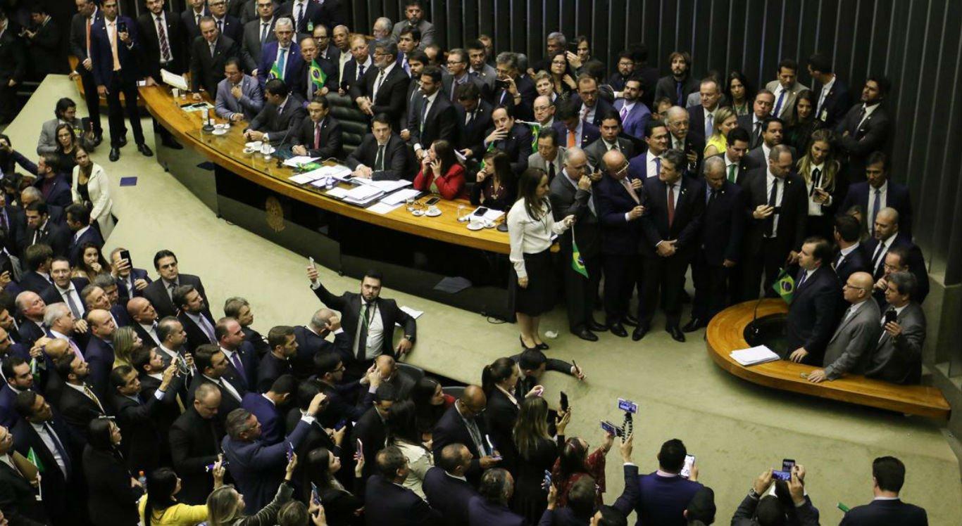 Câmara dos Deputados no dia da votação da reforma da Previdência