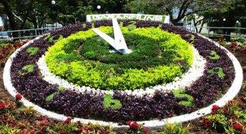 O Relógio das Flores é um dos pontos mais conhecidos da cidade