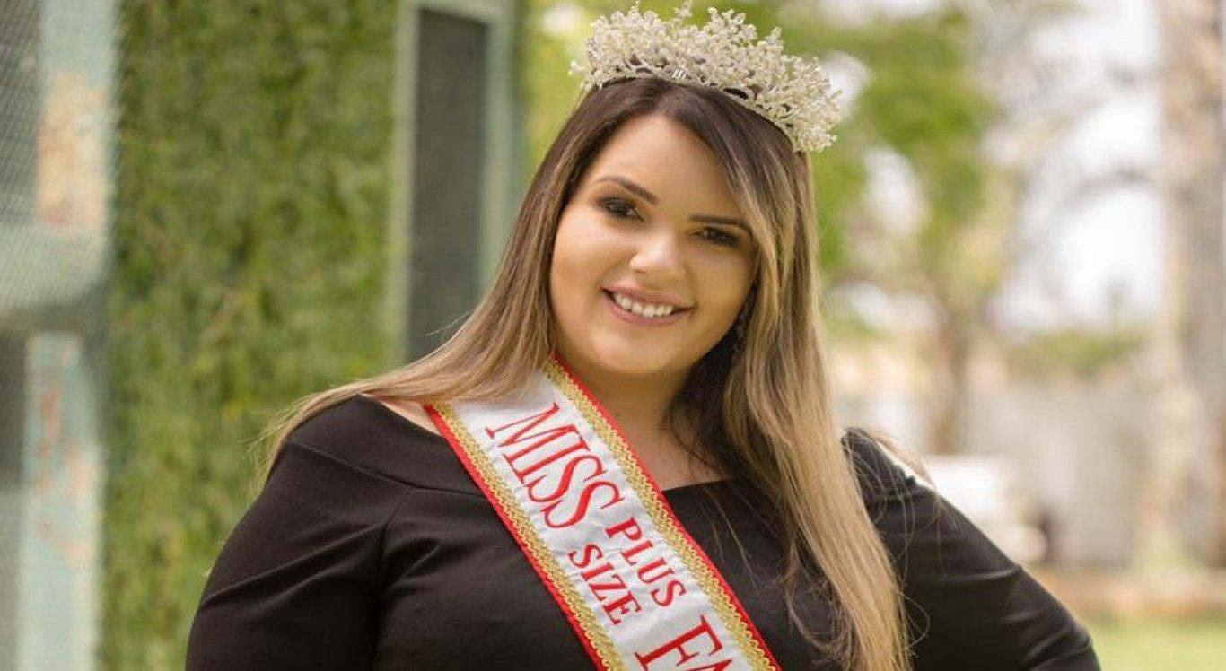 Daisy foi aclamada como a mais bela gordinha de Pernambuco em seletiva da competição realizada no estado em maio de 2019