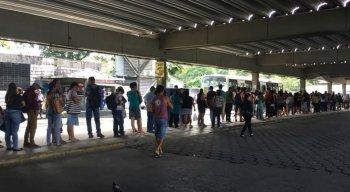 Terminal do metrô de Jaboatão sofreu com transtornos causados por problema