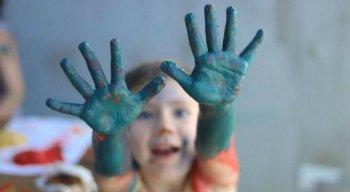 Pequenos podem se divertir no Novo Quintal, espaço destinado a crianças de seis meses a dez anos de idade