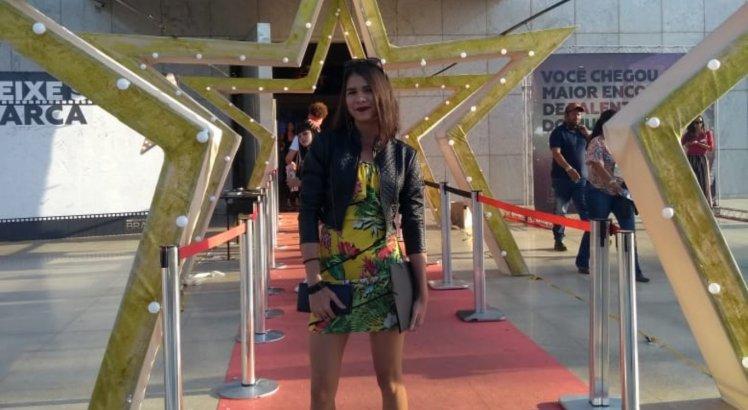 A jovem Maria Barreto participa do Maior Encontro de Talentos