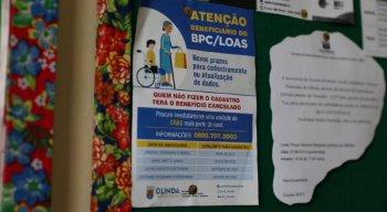 Aviso sobre o prazo do cadastro para os que recebem o BPC