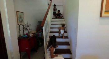Escadas podem ser um perigo para os bebês