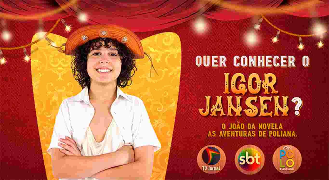 Participe do sorteio e concorra a chance de conhecer Igor Jansen