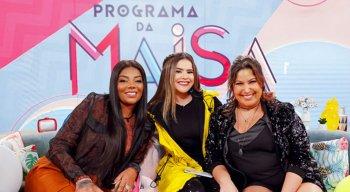 Maisa se diverte com Ludmilla e Mariana Xavier no Programa da Maisa desse sábado