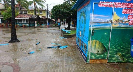 Alerta de ventania no litoral de Pernambuco é estendido pela Marinha