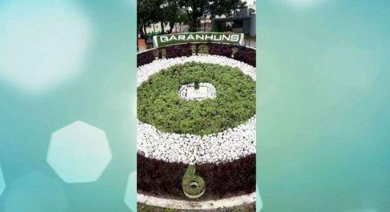 Ponteiros do Relógio de Garanhuns são retirados após serem danificados por turista
