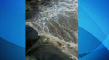 Rio Sirinhaém tem aumento de volume devido as chuvas