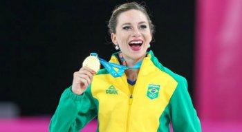 Bruna Wurts, da patinação artística, conquistou medalha de ouro para o Brasil